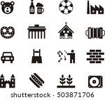 germany icons | Shutterstock .eps vector #503871706