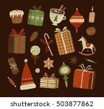 christmas decorations and... | Shutterstock . vector #503877862