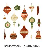 christmas decorations. hand... | Shutterstock . vector #503877868