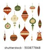 christmas decorations. hand...   Shutterstock . vector #503877868