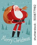 christmas greeting card with... | Shutterstock .eps vector #503877982