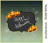 halloween party background . | Shutterstock .eps vector #503878996