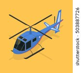 helicopter isometric view... | Shutterstock .eps vector #503887726
