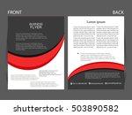 vector business flyer  magazine ... | Shutterstock .eps vector #503890582