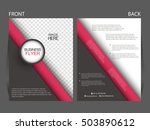 vector business flyer  magazine ... | Shutterstock .eps vector #503890612