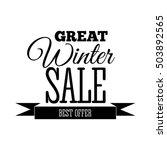winter sale.  inscription. | Shutterstock . vector #503892565