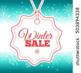 winter sale poster. ... | Shutterstock . vector #503894338