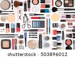 makeup cosmetics  brushes and... | Shutterstock . vector #503896012