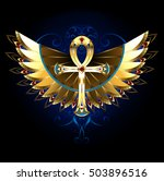 Golden Egyptian Ankh With...