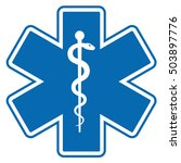 medical symbol of the emergency ... | Shutterstock .eps vector #503897776