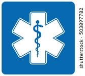 medical symbol of the emergency ... | Shutterstock .eps vector #503897782
