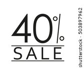 40  sale. price off icon with... | Shutterstock .eps vector #503897962