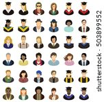 set of university  college and... | Shutterstock .eps vector #503899552