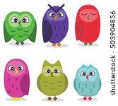 set of owls | Shutterstock .eps vector #503904856