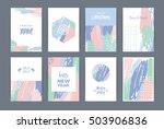 set of artistic creative merry... | Shutterstock .eps vector #503906836