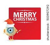 cartoon cute robot with merry... | Shutterstock .eps vector #503907292