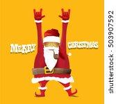 vector rock n roll santa claus... | Shutterstock .eps vector #503907592
