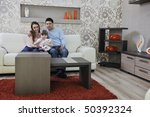 happy youg family relaxing in...   Shutterstock . vector #50392324