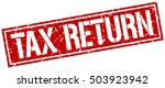 tax return. grunge vintage tax... | Shutterstock .eps vector #503923942