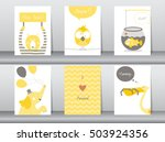 set of cute animals poster... | Shutterstock .eps vector #503924356