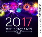 happy new 2017 year with... | Shutterstock .eps vector #503928556