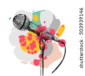 sketch microphone on a white... | Shutterstock .eps vector #503939146