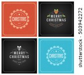 christmas greeting cards... | Shutterstock .eps vector #503942272