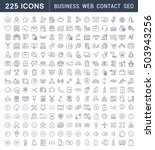 set line icons in flat design... | Shutterstock . vector #503943256