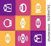 smart watch icons set ...
