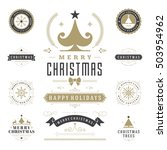 christmas labels and badges... | Shutterstock .eps vector #503954962
