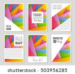 abstract vector layout...   Shutterstock .eps vector #503956285