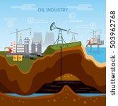 oil industry infographics ... | Shutterstock .eps vector #503962768