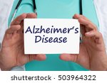 Small photo of Alzheimers disease Alzheimer Alzheimer's ill illness healthy health doctor with sign
