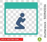 vector pray person calendar... | Shutterstock .eps vector #503965036