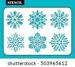 stencil design. set of... | Shutterstock .eps vector #503965612