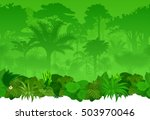 vector seamless tropical... | Shutterstock .eps vector #503970046