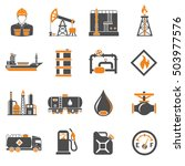 oil industry extraction... | Shutterstock .eps vector #503977576
