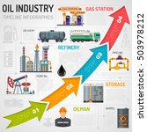 oil industry infographics with... | Shutterstock .eps vector #503978212