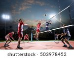 professional volleyball players ... | Shutterstock . vector #503978452
