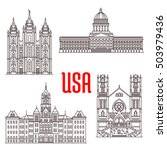 Famous Buildings Icons Of Usa....