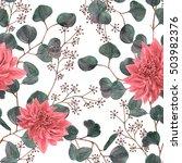 watercolor seamless pattern... | Shutterstock . vector #503982376