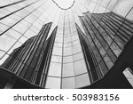 black and white of office... | Shutterstock . vector #503983156