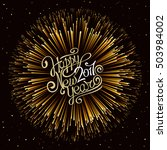 happy new year 2017. hand... | Shutterstock .eps vector #503984002