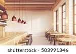 bar interior with stools ... | Shutterstock . vector #503991346