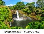hawaii  rainbow falls in hilo....   Shutterstock . vector #503999752