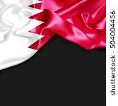 Bahrain Country Flag On Black...
