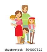 happy family   Shutterstock .eps vector #504007522