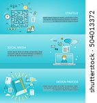 set of creative process and... | Shutterstock .eps vector #504013372