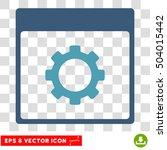 vector gear options calendar...   Shutterstock .eps vector #504015442