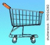 grocery cart store | Shutterstock . vector #504016282
